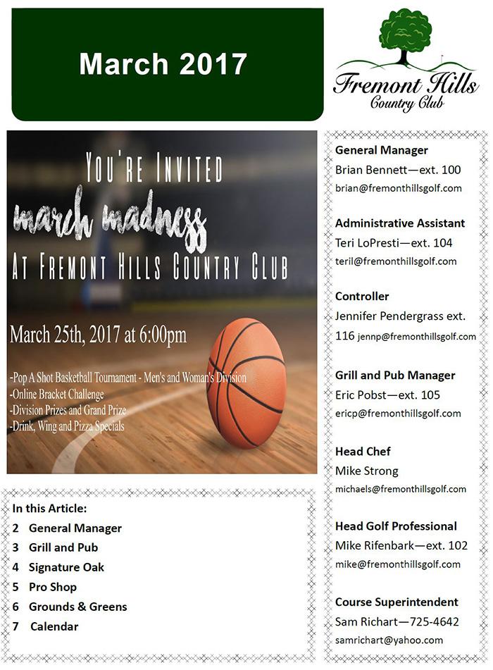 FHCC March 2017 Newsletter