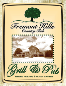 Fremont Hills Country Club Grill & Pub Menu