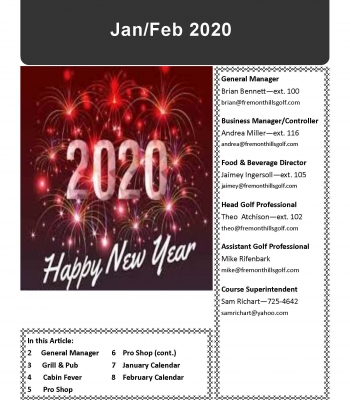 Jan/Feb 2020 Newsletter