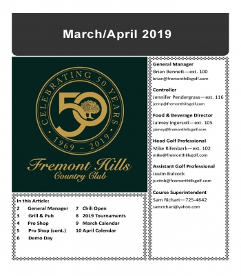 March/April 2019 Newsletter