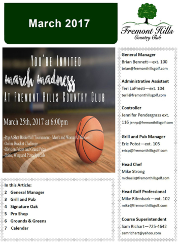 FHCC March 2017 Newsletter