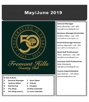 May/June 2019 Newsletter