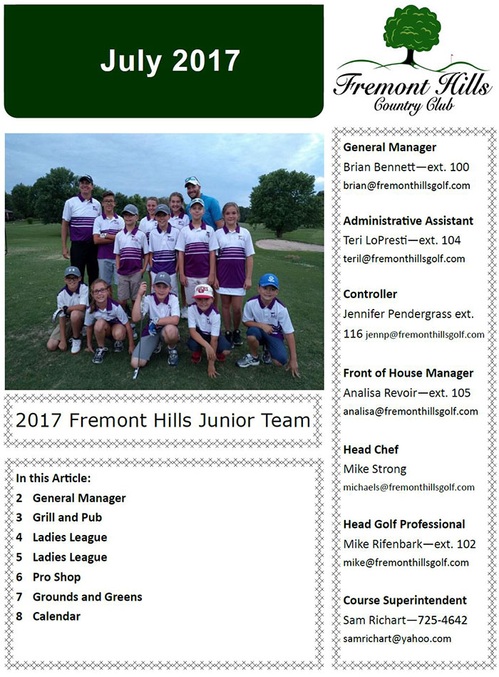 FHCC July 2017 Newsletter